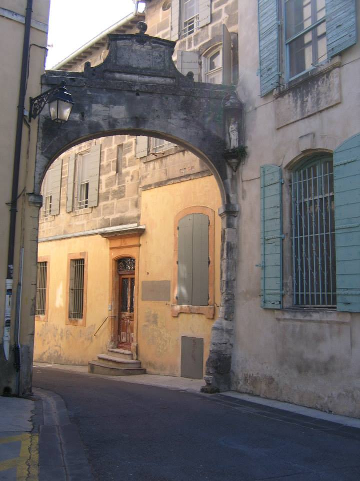 stone archway in Arles