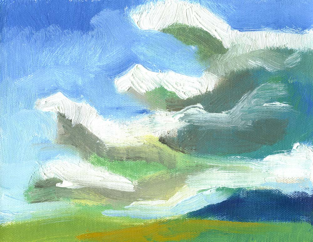 oil painting of clouds