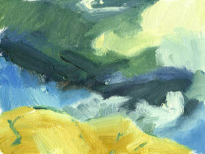 oil painting on canvas, Crosdale storm