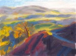 Settlebeck Gill sun, shadow oil painting