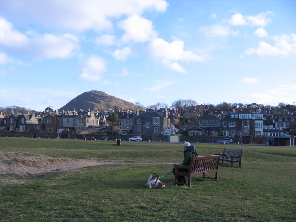 North Berwick bench on the green