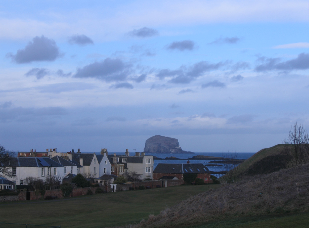 North Berwick and Bass Rock, evening