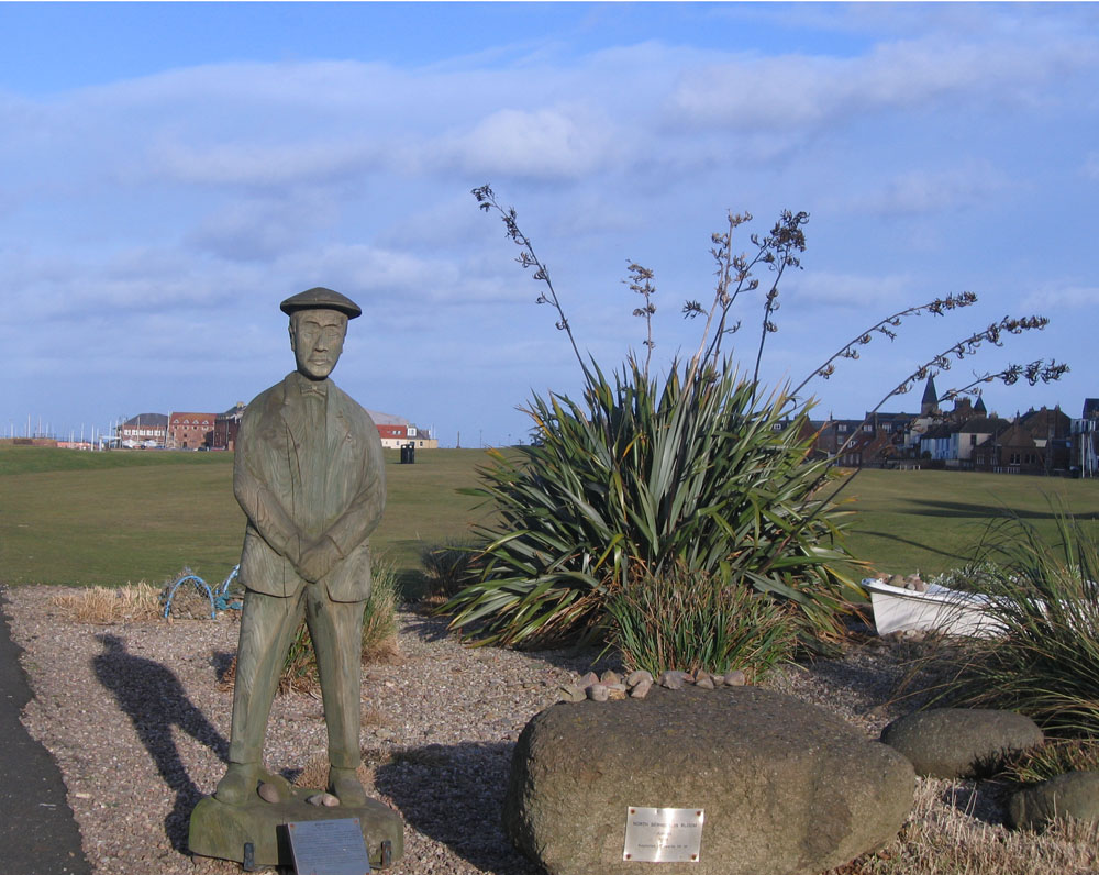 North Berwick wooden man