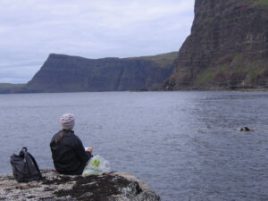 me painting at Ramasaig, en plein air