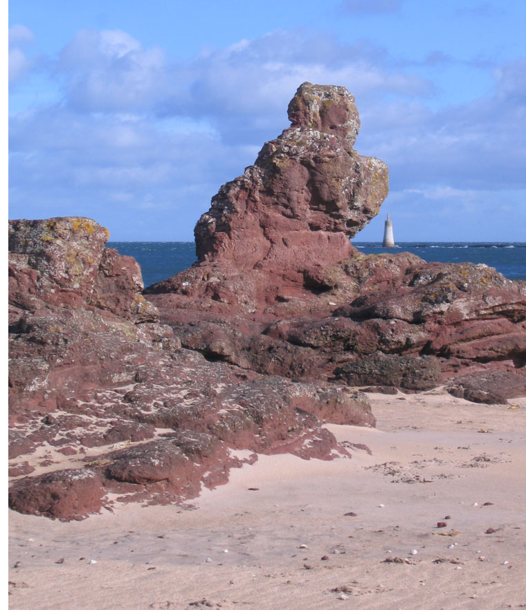 rock figure on Seacliff beach
