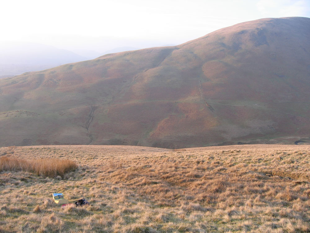 view of fells with plein air kit