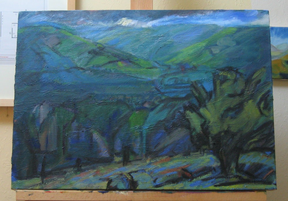 A2 oil painting on canvas, Whitewell painting