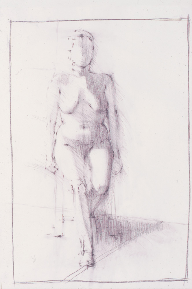 life drawing on paper