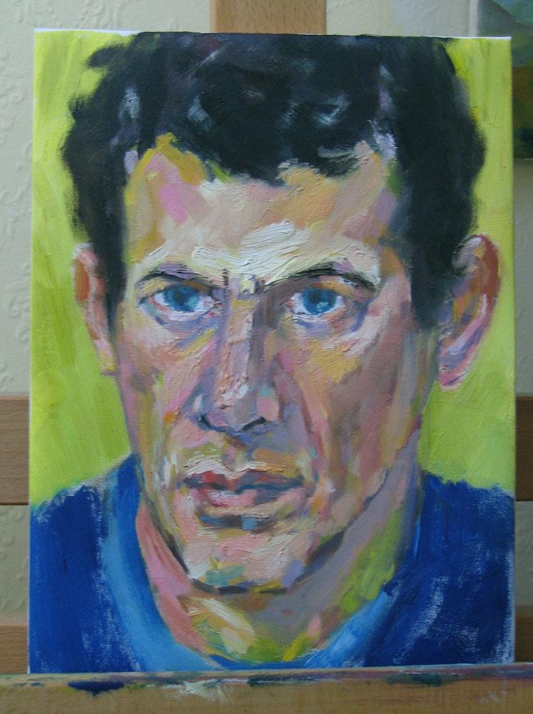 oil portrait, 9x12 inches, work in progress
