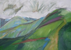 oil painting of Arant Haw