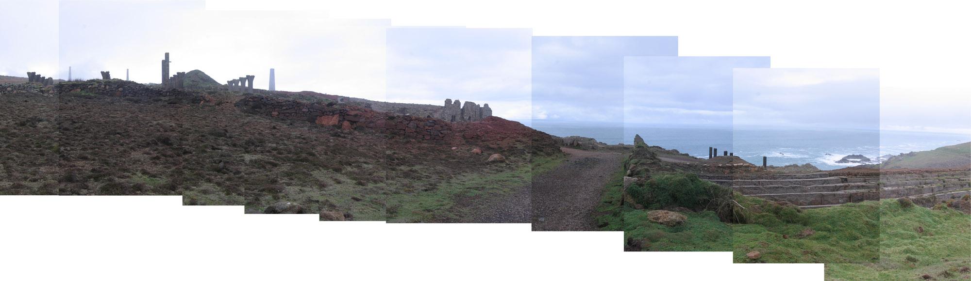 mining ruins near Botallack, joiner photograph