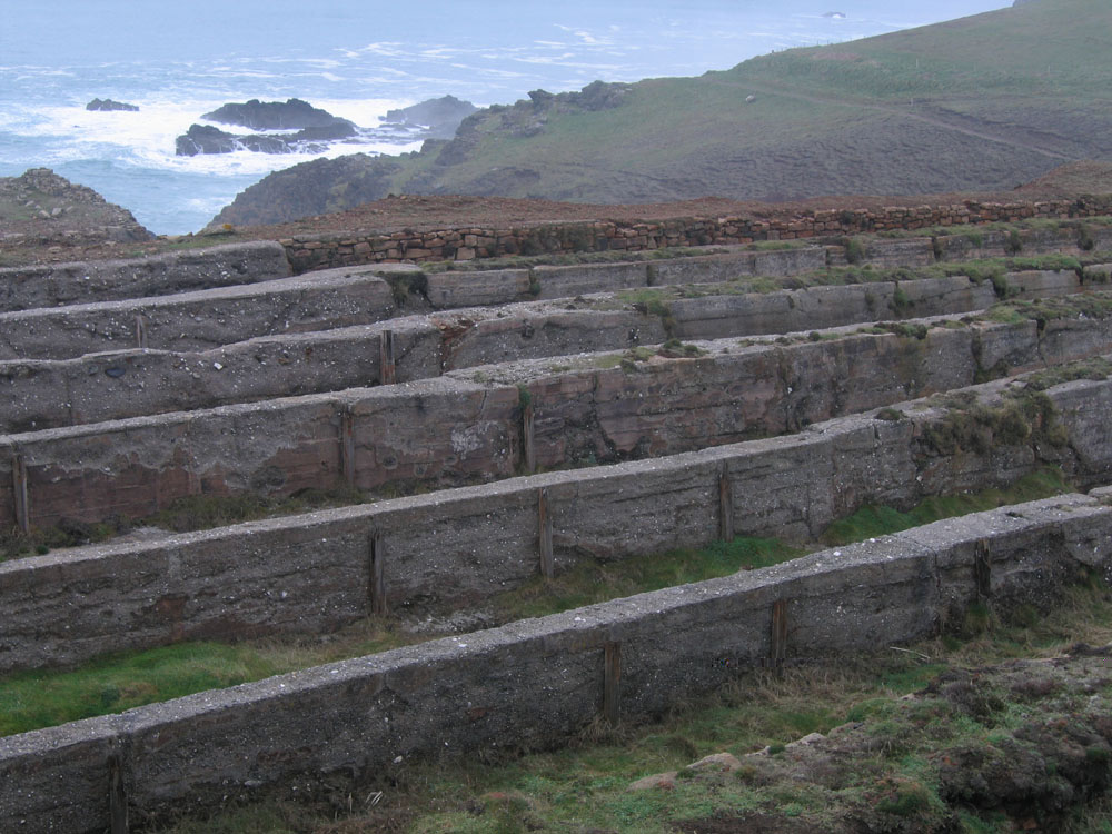 mining ruins on a Cornish cliff