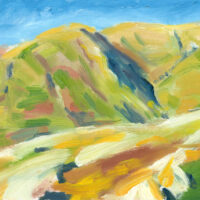 colourful valley oil painting