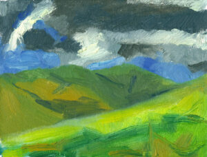 oil painting on canvas, Darkness in Crosdale