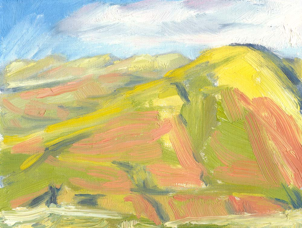 Howgills in evening light oil painting