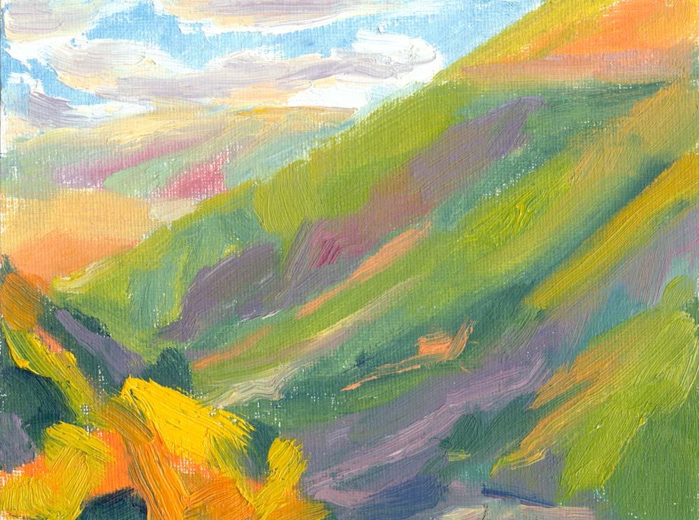Settlebeck Gill oil painting