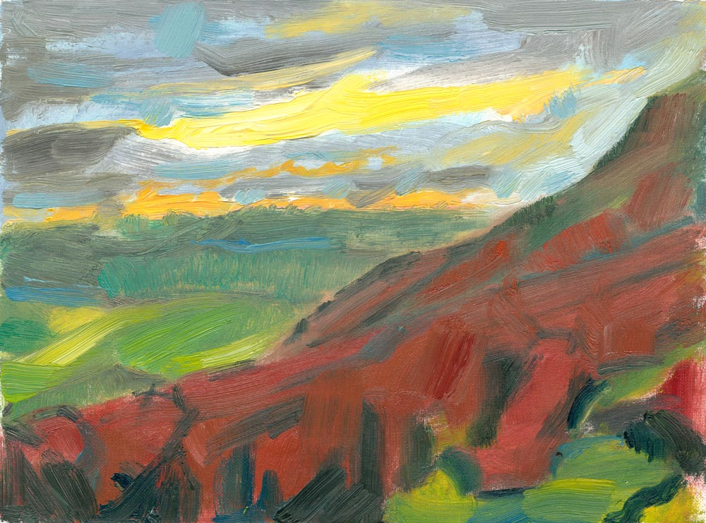 Winder looking west oil painting