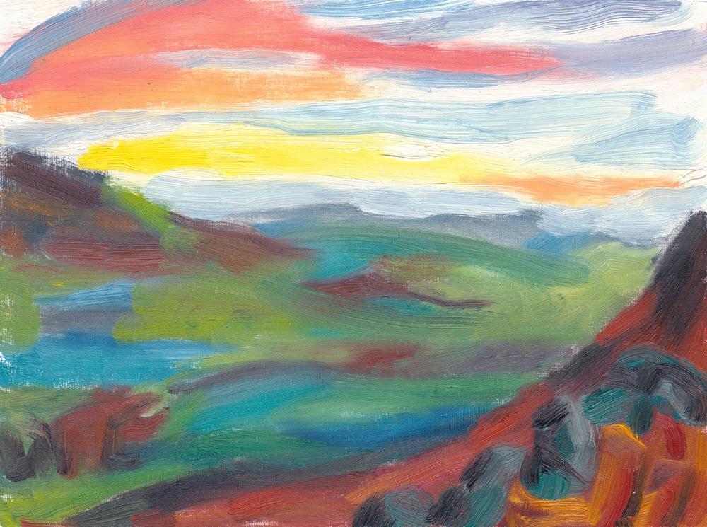 alien landscape painting