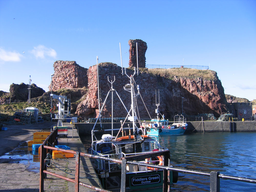 image showing sunny harbour in Dunbar