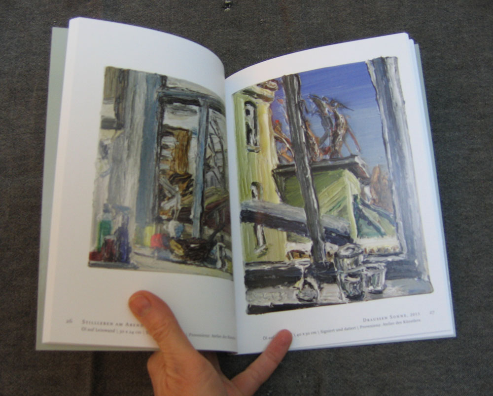 Lehmpfuhl catalogue showing still life paintings and window views
