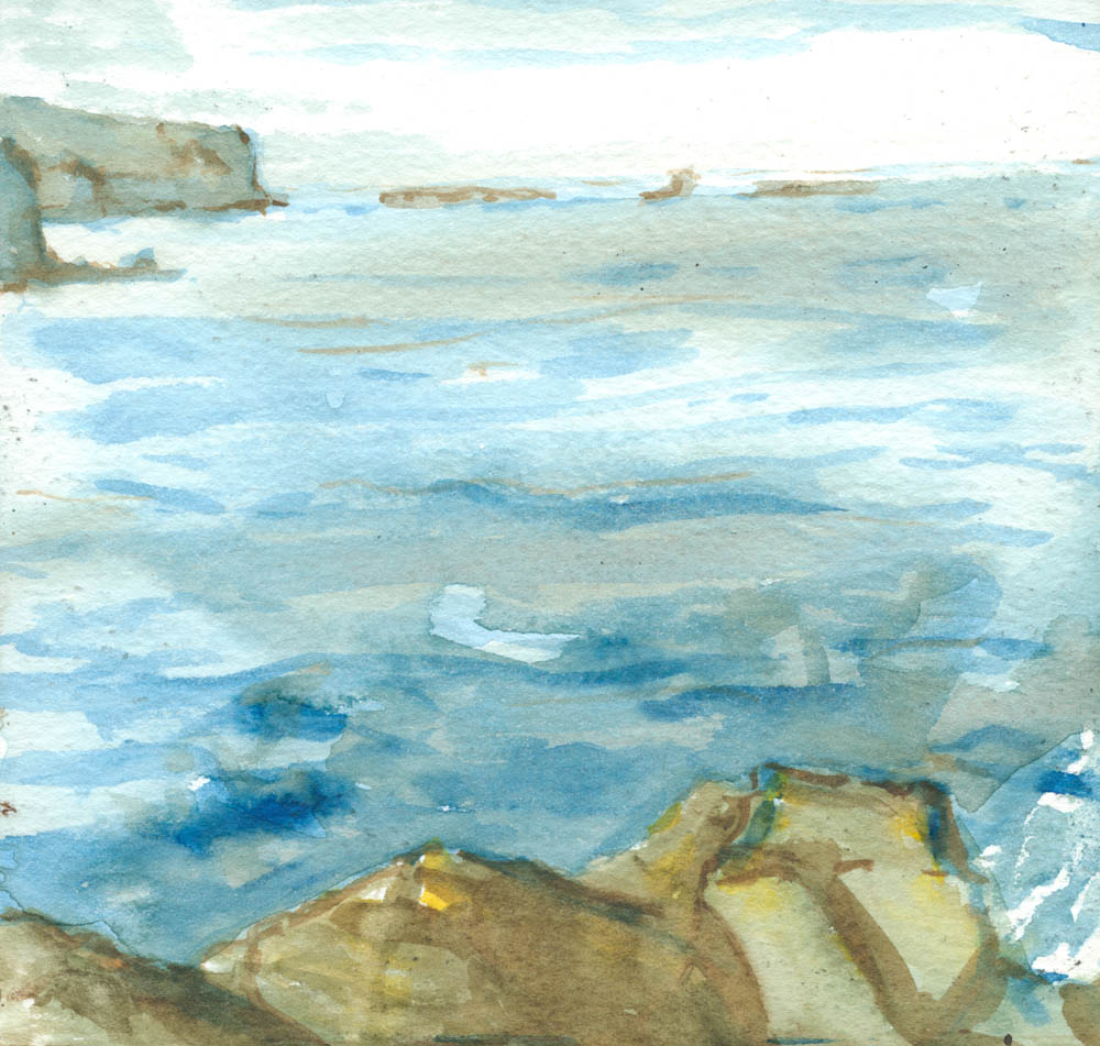 loch Pooltiel watercolour sketch