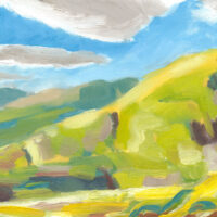 oil painting of fells view, north