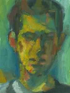 oil painting, portrait of a man