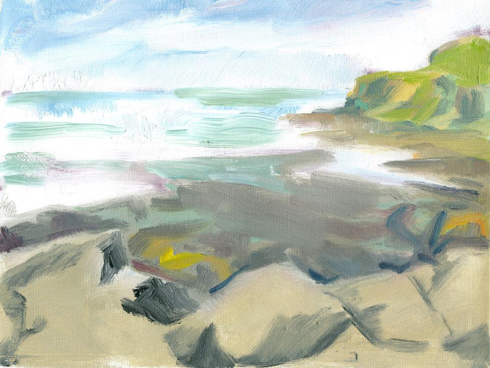 plein air sketch of Loch Pooltiel