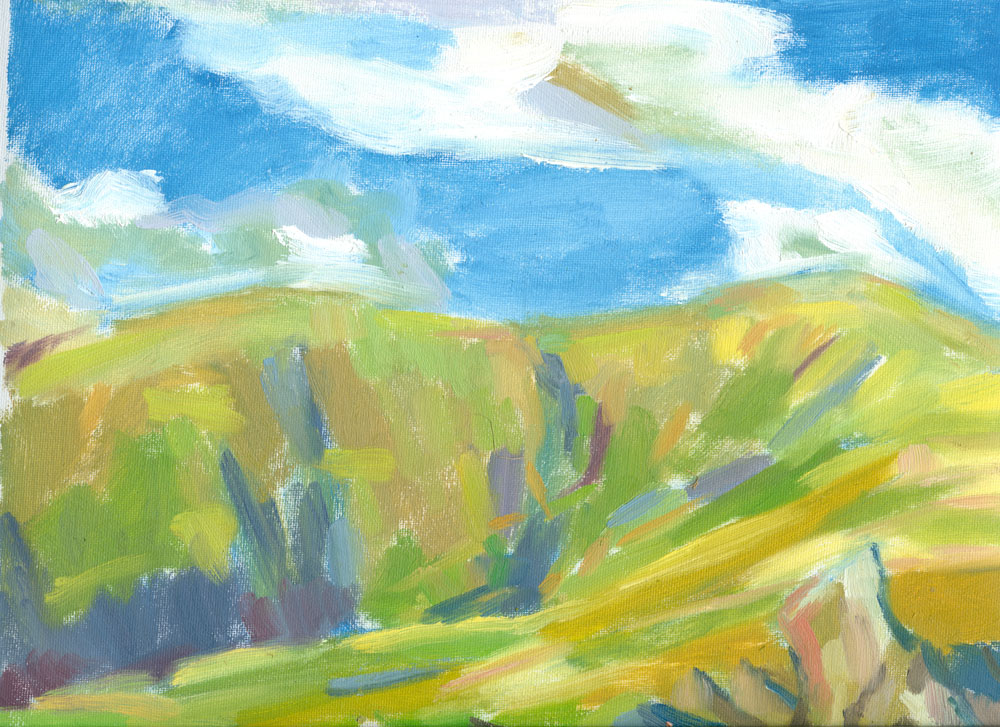plein air [ainting, Howgills, 9x12 inches