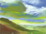 oil painting of sea light