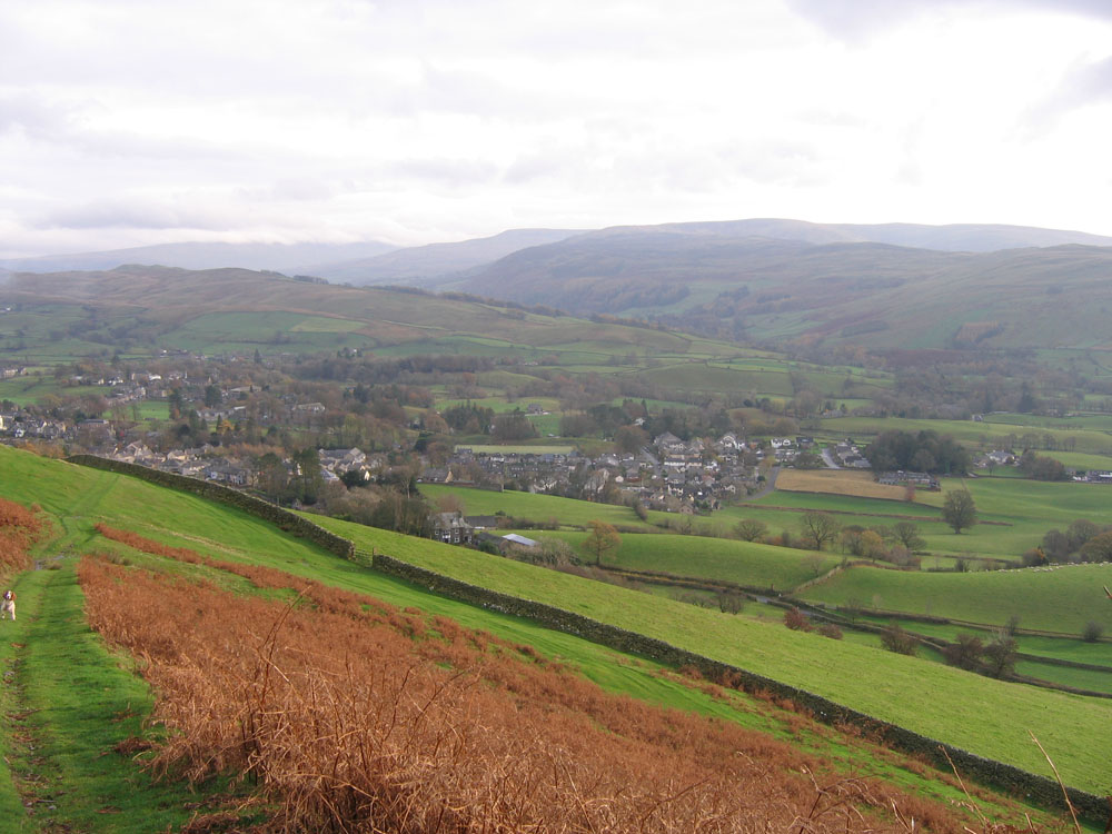 view of Sedbergh seen from Winder