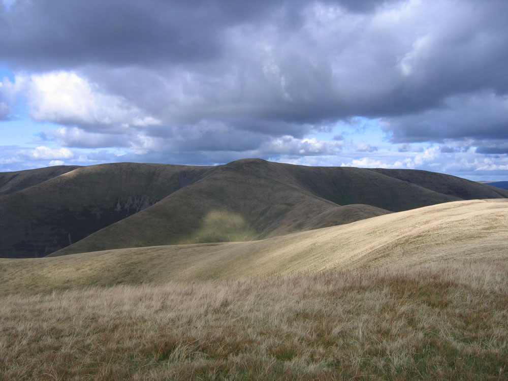 photo showing stormy clouds over Arant Haw