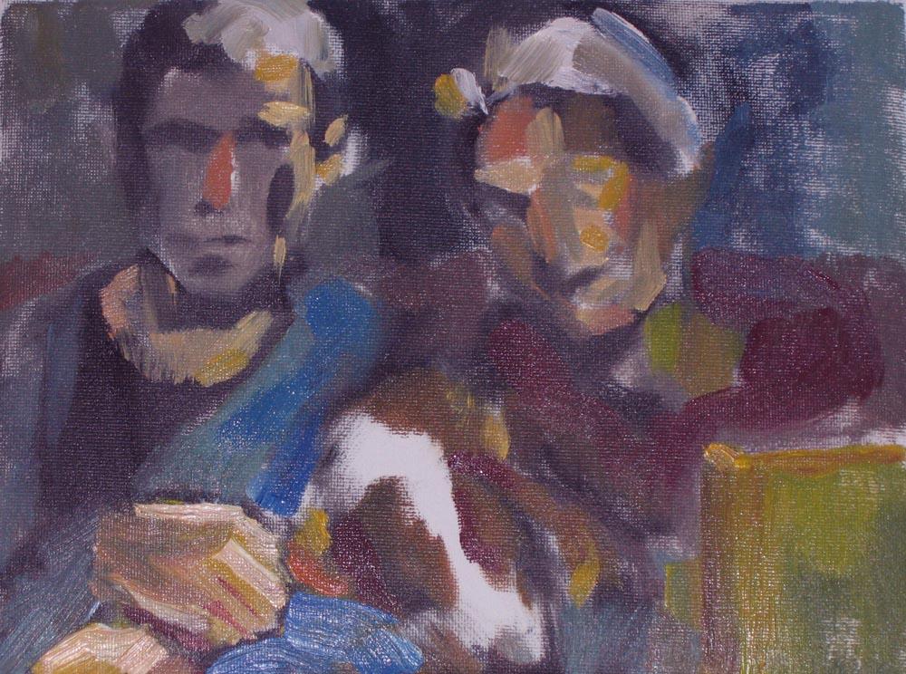 """portrait, family, 6""""x8"""", oil on canvas"""