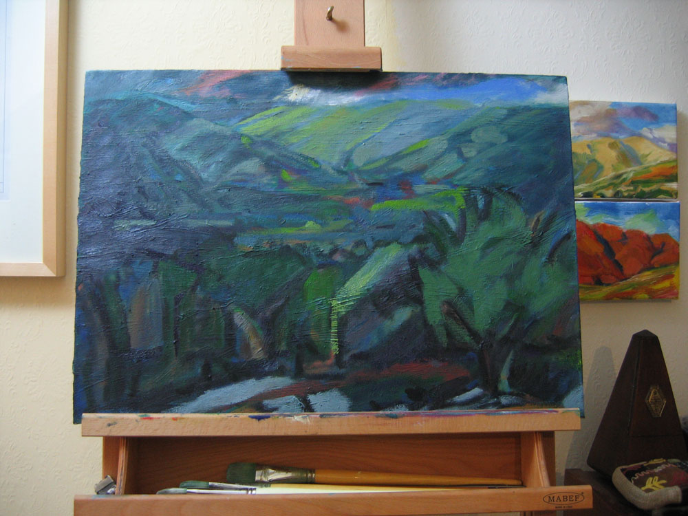 work in progress, Whitewell oil painting